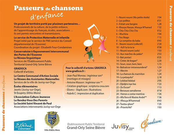 Sortie du CD « Passeurs de chansons d'enfance »