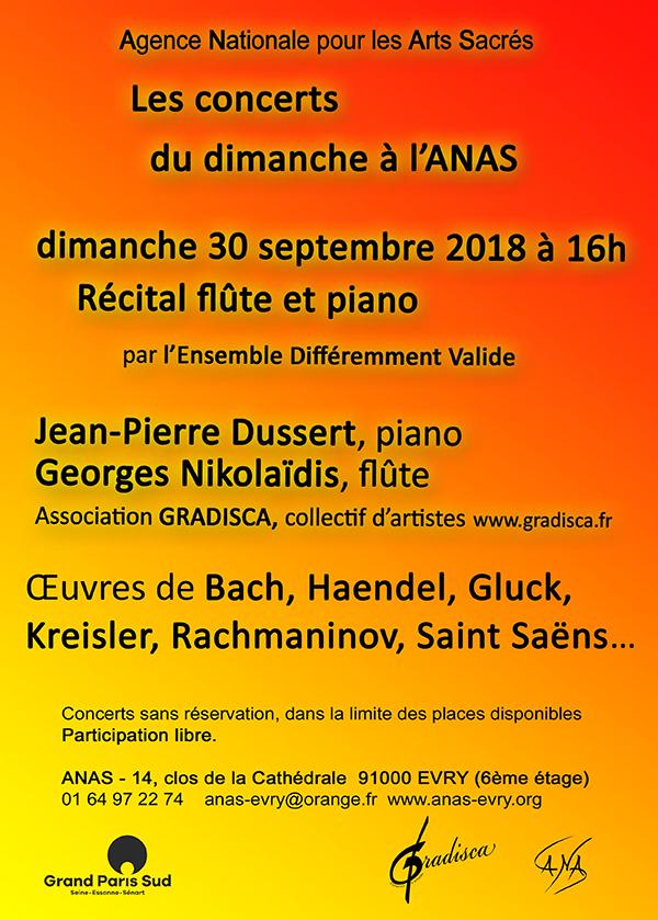 Récital flûte et piano par l'Ensemble Différemment Valide