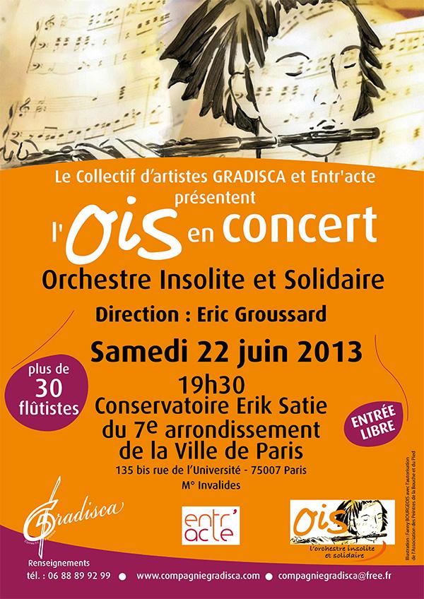 Le Collectif d'artistes GRADISCA et Entr'acte en concert