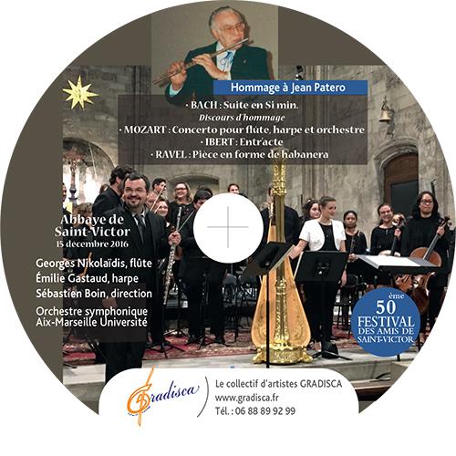Mozart (concerto pour flûte, harpe et orchestre) - J.S.BACH (Suite en Si min.) - RAVEL (Pièce en forme de habanera) - IBERT (Entr'acte)