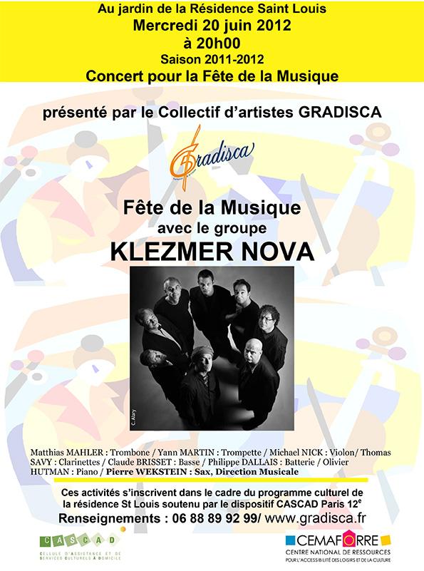 Concert pour la Fête de la Musique avec le groupe Klezmer Nova