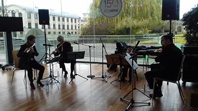 Concert de sensibilisation au handicap par l'Ensemble Les Soli d'Air à Nestlé